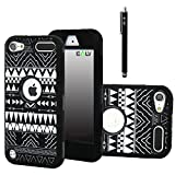 ELV Case for Apple iPod Touch 5 Bundled with  a Screen Protector, Black Stylus, Water Resistant Bag and Microfiber Digital Cleaner