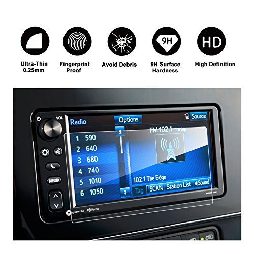 RUIYA 2017 Toyota Corolla iM Hatchback 7-Inch In-Dash Screen Protector, HD Clear Tempered Glass Car Navigation Screen Protective Film, Compatible with 2013-2017 Toyota Avalon (Hatch Toyota Corolla)