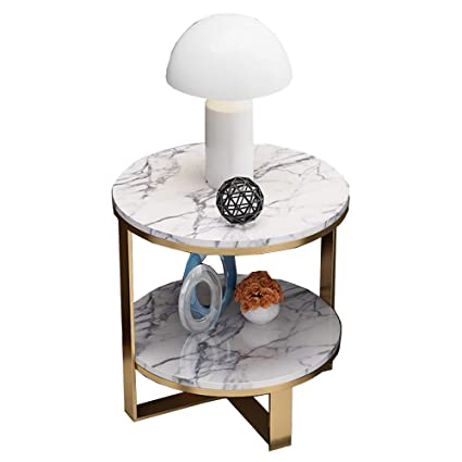 Outstanding Amazon Com Zhirong Nordic Marble Side Table Round 2 Layer Machost Co Dining Chair Design Ideas Machostcouk