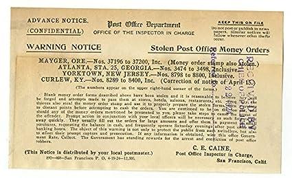 Amazon com: Crime Notice - Post Office - San Francisco, CA