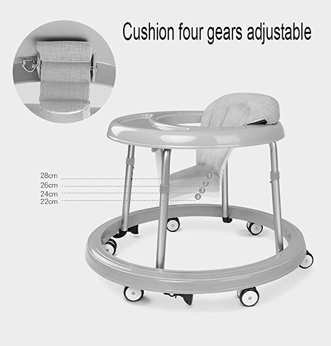 LFY Andador para bebé con 6 Ruedas silenciosas con diseño de ...