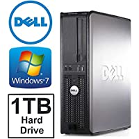 Dell Optiplex GX580 Desktop Computer, AMD Athlon Dual Core 3.2GHz, 4GB DDR3 Memory,New 1TB HDD, WiFi, Windows 7 Pro 64 Bit (Certified Refurbished)