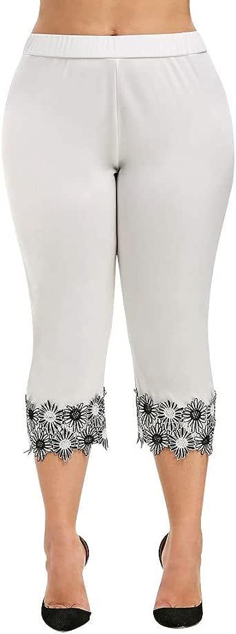 ADELINA Pantalones para Mujer Tallas Talle Largo 3/4 De ...