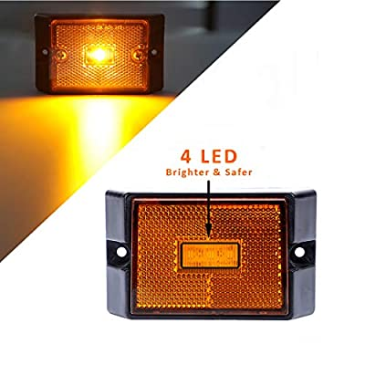 CZC AUTO 12V Submersible LED Trailer Tail Light Kit for Under 80 Inch Trailer Boat Utility Trailer Waterproof (Trailer Light kit): Automotive