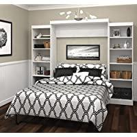 Bestar Furniture 26883-17 Pur 115 Queen Wall Bed Kit Including Ten Shelves with Adjustable Shelves in