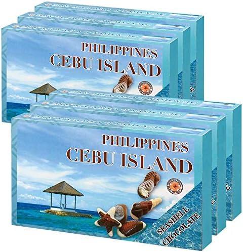 フィリピンお土産 セブ シーシェルチョコレート 125g(10粒入り) 6箱セット