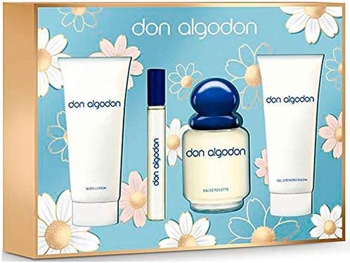 DON ALGODÓN pack colonia spray 100 ml + colonia 10 ml + gel de ducha 75 ml + body lotion 75 ml: Amazon.es: Belleza