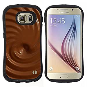 "Hypernova Slim Fit Dual Barniz Protector Caso Case Funda Para Samsung Galaxy S6 [Texturas de chocolate""]"