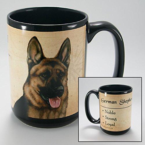 Dog Breeds (A-K) German Shepherd 15-oz Coffee Mug Bundle with Non-Negotiable K-Nine Cash by Imprints Plus (080) (Gift Red Shepherd Box)
