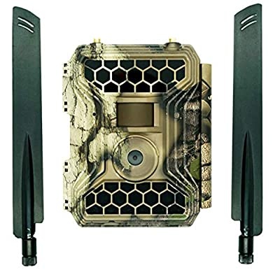 """Snyper Commander Cellular 4G LTE Trail Camera 1080P / 12MP Wireless Trail Camera with 2"""" LCD Screen Multi Network Easy Set Up Sim Card 