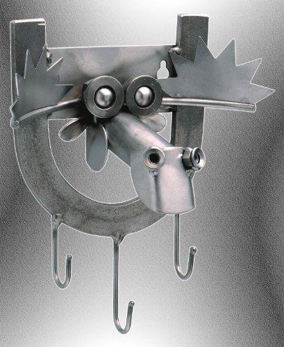 Boystoys HK Design - Schlüsselbrett Elch - Metall Art Geschenkideen Schlüsselhalter Deko Skulptur - Original Schraubenmännchen Wohnaccessoire handgefertigt