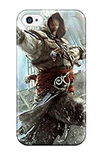 Slim Fit Tpu Protector Shock Absorbent Bumper Assassin's Creed Iv Black Flag Case For Iphone 4/4s
