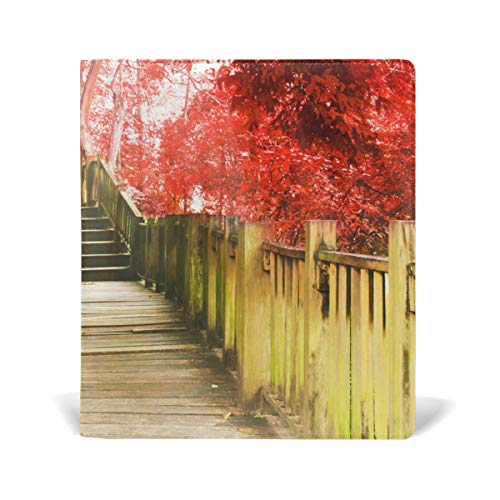 Book Sox Forest Trail Red Book Covers Hardcover Protectors for 9¡± x 11¡± Jumbo Textbooks Adhesive Nylon Fabric School Book Jackets