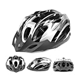 Silver Adult Ajustable Bike helmet Adult Cycling Bicycle PVC EPS Protecting Helmet With Visor - 2014