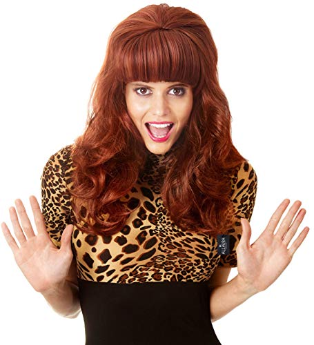 Peggy Bundy Wig for 80's Costumes Married Mob Wife Big Hair Red Wigs for Women -