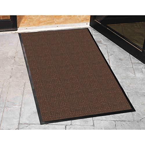 Genuine Joe Indoor/Outdoor Mat, Water Guard, 4 by 6-Feet, Brown
