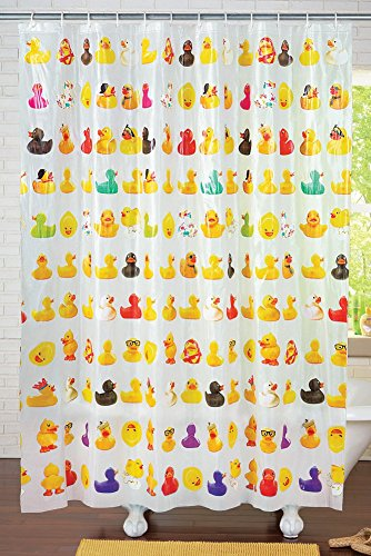 Duckies Peva Vinyl Shower Curtain