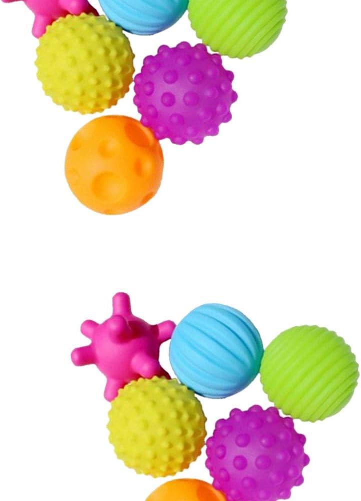 Yisily 6pcs Creative Enfant en /Âge Balle Multi Fonction Tactile B/éb/é Texture Balles Sensorielles Portable B/éb/é Grab Touching Balle Jouets pour Le Bain Jouets pour B/éb/és Fournitures Enfants