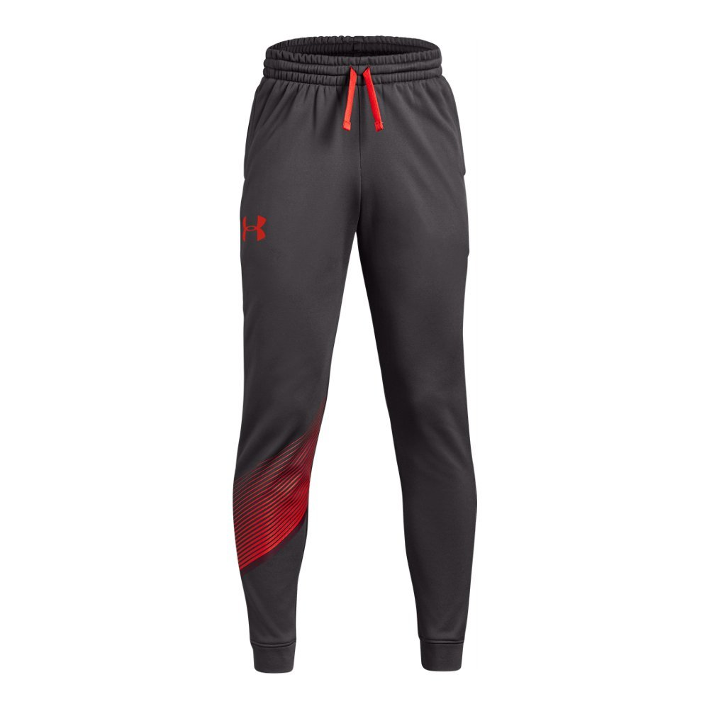 Under Armour Boys Armour Fleece 1.5 Jogger, Charcoal (019)/Radio Red, Youth Large