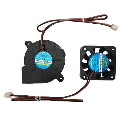 Impresora 3D Ventilador de refrigeración Extrusora Ventilador ...