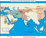 Eurasia & Silk Roads (World History Wall Maps)