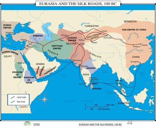 Eurasia & Silk Roads (World History Wall Maps) by Universal Map