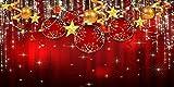 GladsBuy Shiny Christmas Balls 20' x 10' Computer Printed Photography Backdrop Christmas Theme Background LMG-163