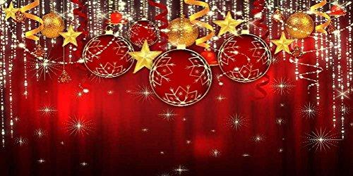 GladsBuy Shiny Christmas Balls 20' x 10' Computer Printed Photography Backdrop Christmas Theme Background LMG-163 by GladsBuy