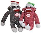 "MULTIPET Christmas Sock Monkey Dog Toy 10"" (Assorted)_DX"
