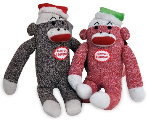 Multipet Christmas Sock Monkey Dog Toy 10