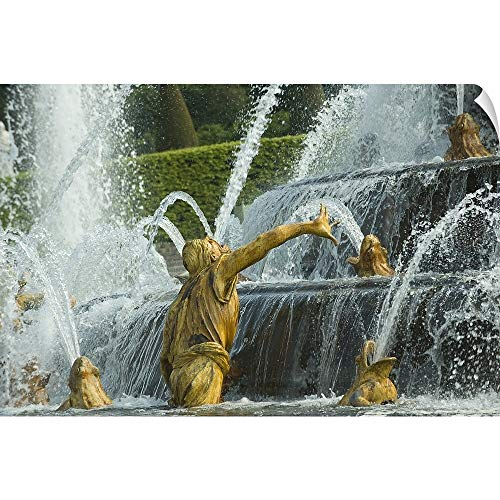 CANVAS ON DEMAND Wall Peel Wall Art Print Entitled Fountain in a Garden, Bassin De Latone, Versailles, Paris, ILE de France, France 18