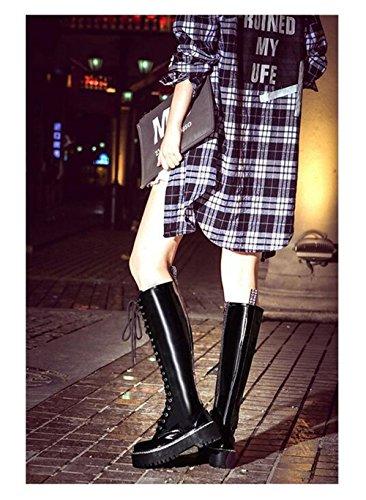 De Grueso Cremallera Mujer Vintage Para Brit Martin Mujeres De Moda Fondo Botas Cruzada Nuevas De Planas Botas Botas EA7fqgwf