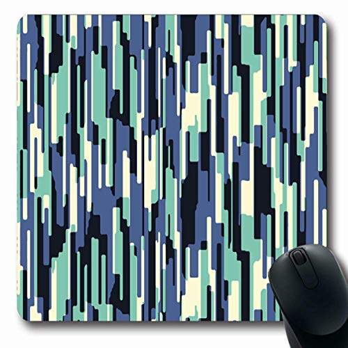 Ahawoso Mousepad Oblong 7.9x9.8 Inches Grungy Stripe Abstract Color Geometry Media Experimental Artistic Creation Design Publishing Office Computer Laptop Notebook Mouse Pad,Non-Slip Rubber
