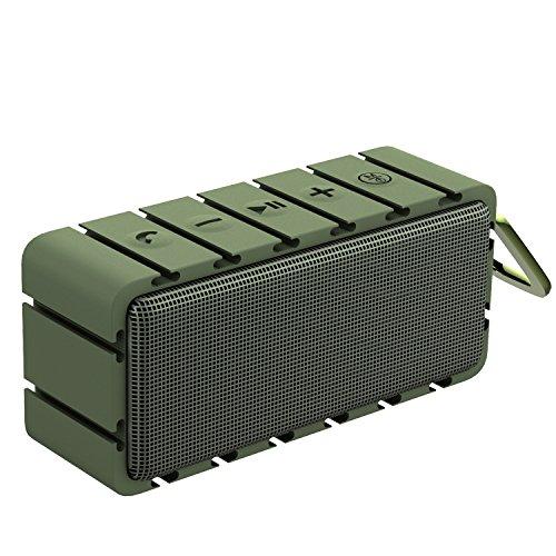 BYZ Bluetooth Speakers Portable Wireless Outdoor Bluetooth Speaker IPX6 Waterproof Dustproof Stereo Outdoor Speakers Green