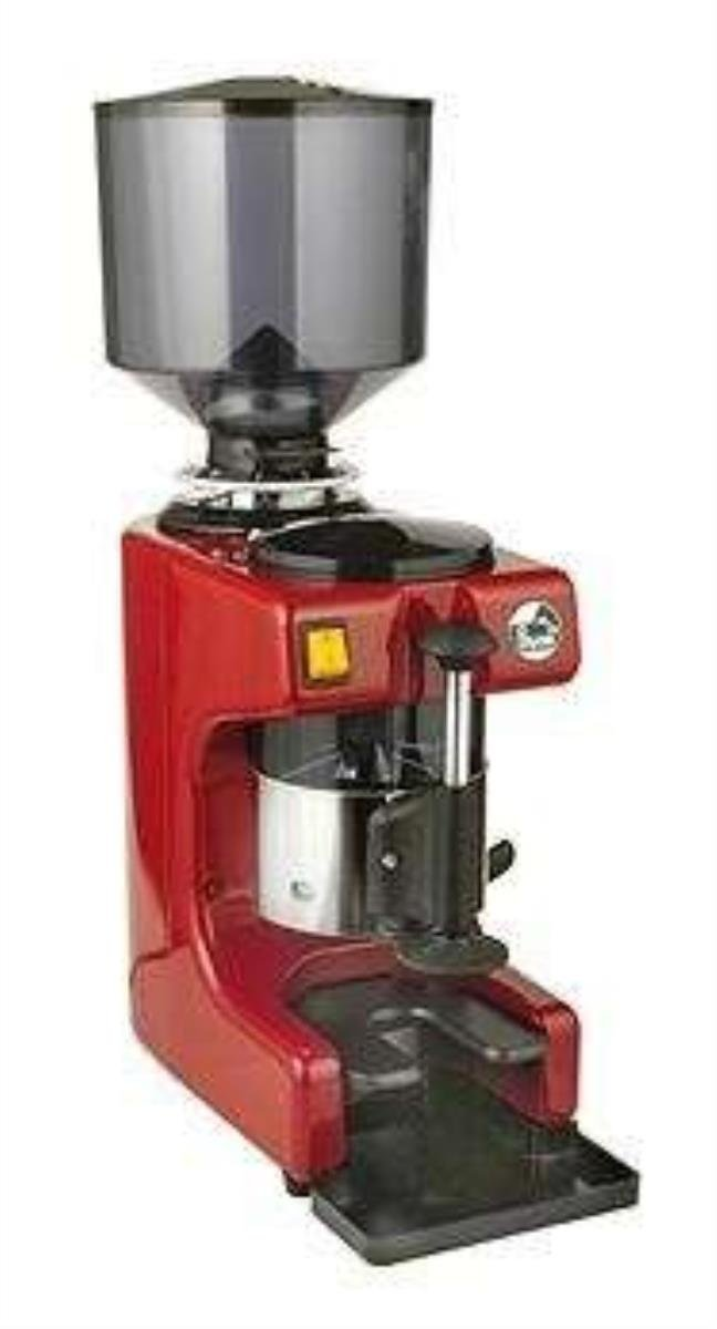 La Pavoni ZIP-R Commercial Coffee Grinder 2.2-Pound Capacity Hopper, Multiple Grind Settings, Red and Stainless Steel