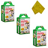 Fujifilm Instax Mini Instant Film 60 Prints (3 Twin Packs = 60 Pictures) For Fuji mini 90, mini 70, mini 50s, mini 25, mini 9, mini 7s, mini 8+, mini 8 Camera, Smartphone Printer SP-1 SP-2