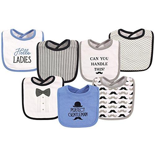 Hudson Baby Baby Cotton Drooler Bibs, 7 Pack, Gentleman, One Size