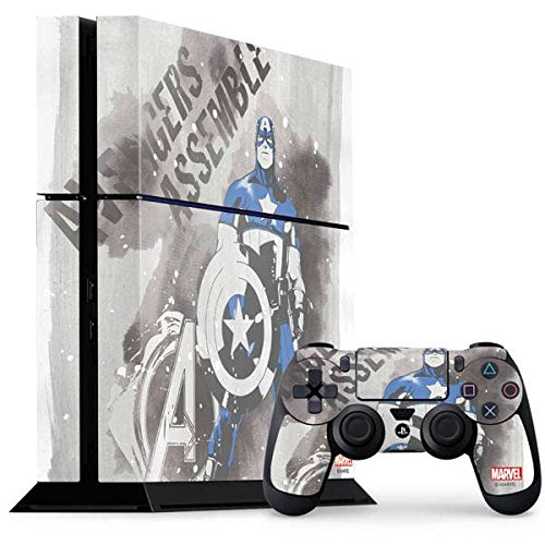 Captain America Ps4 Console And Controller Bundle Skin   Captain America Is Ready   Marvel   Skinit Skin