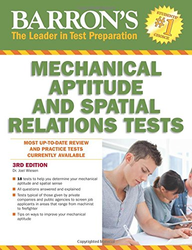 Barron's Mechanical Aptitude and Spatial Relations Test, 3rd Edition (Barron's Mechanical Aptitude & Spatial Relations Test) cover