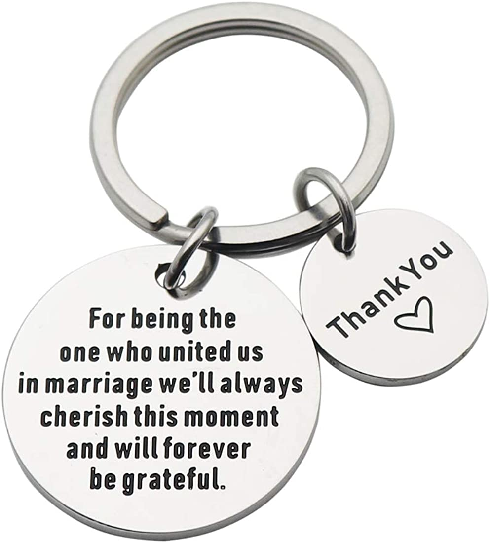 Wedding Officiant Keychain Wedding Officiant Gift Thank You Gift for Wedding Planner Wedding Officiant Appreciation Gift