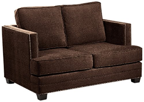 Loni M. Designs Madison Love Seat, Chocolate