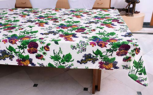 Miyanbazaz Textiles 100% Cotton Table Covers for Dining Table 6 Seater  Multi Floral  60X90 Inch, Sitting Fabric