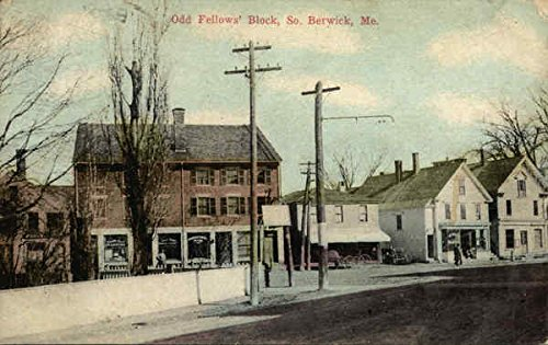 Odd Fellows' Block South Berwick, Maine Original Vintage Postcard