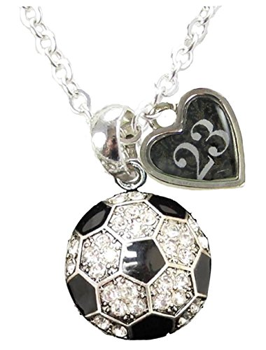 Custom Soccer Ball Crystal Silver Necklace Jewelry CHOOSE