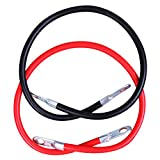 "CARTMAN 4AWG 24-Inch Battery Inverter Cables Set, 4Gauge x 24"" (1 Black & 1 Red)"