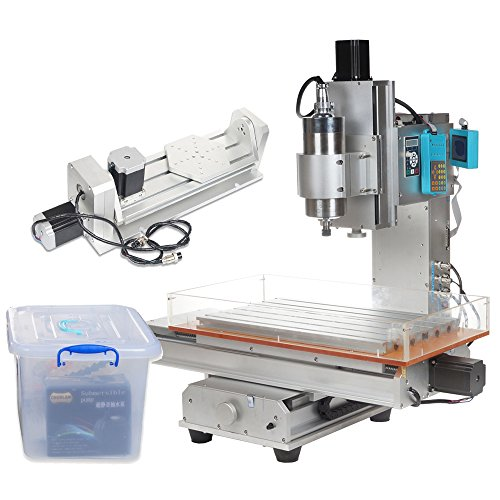 UCONTRO Desktop 2200W 5 Axis 6040 CNC Router Engraving Machine 110V LCD with 1.5KW VFD for Metal Wood Engraving, Support Mach3, LinuxCNC(EMC2), KCAM4