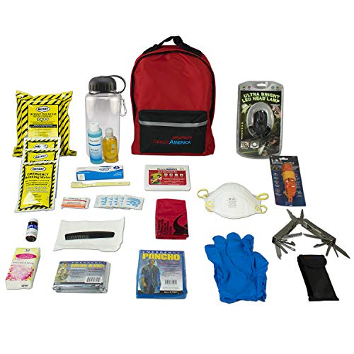Ready America 70185 Deluxe Emergency Kit 1 Person 3 Day Backpack ()