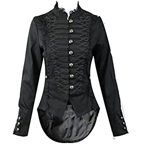 Hearts and Roses H&R Women's Steampunk Gothic Parade Long Tailcoat