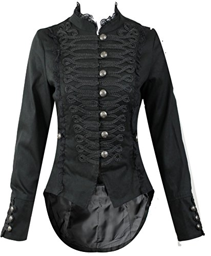Hearts and Roses H&R Women's Steampunk Gothic Parade Long Tailcoat (US 12) -
