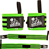 Wrist Wraps Super Heavy Duty (1 Pair/2 Wraps) 24' Support for Weight Lifting | Powerlifting | Gym | Cross Training - Weightlifting Thumb Loop - Men & Women - by Nordic Lifting -(Green)-1 Year Warranty